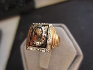 1934 Grand Rapids Union High School Class Ring Size 5 1/2 10k Yellow