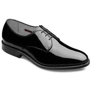 Allen Edmonds Mens Mayfair Black Patent Leather Shoe