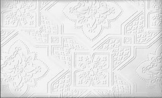 ORNATE CEILING TILE WHITE TEXTURED PAINTABLE WALLPAPER VP131612