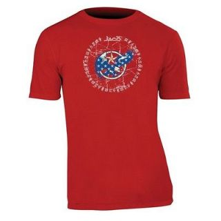 Jaco Clothing MMA USA Armed Forces Crest Red Mens Tee Shirt 2XL