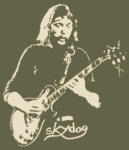 DUANE ALLMAN BROTHERS SKYDOG VINTAGE T SHIRT WITH GIBSON BLUES GUITAR