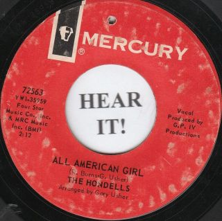 The Hondells SURF 45 (Mercury 72563) All American Girl/Younger Girl