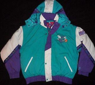 Vtg Original 1990s CHARLOTTE HORNETS NBA PRO PLAYER JACKET Starter