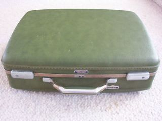 American Tourister Tiara Green Luggage Suitcase Circa 1960s Hardcase