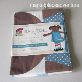 Rag Doll Kit 100% Cotton Just Cut & Sew Machine Wash Reversible Dress