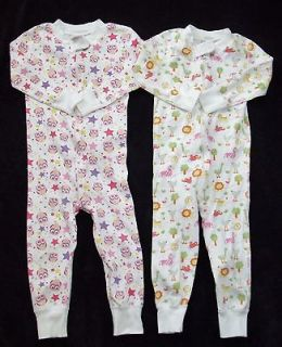Hanna Andersson Girls 80 18 24 Months Zippers Pajamas Lot Pink Owls