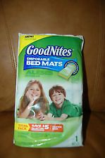 Newly listed NIP GoodNites Disposable Bed Mat Trial Pack for Kids 1