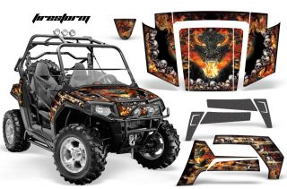 POLARIS RZR RAZOR GRAPHIC BODY KIT AMR RACING FIRESTORM