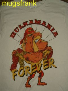 HULKAMANIA VINTAGE T SHIRT, HULK HOGAN, WWF, WRESTLING, CLASSIC S/M/L
