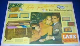 1947 Lane Cedar Hope Chest Christmas love gift Ad