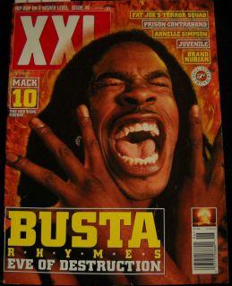 XXL Magazine Issue #6 1998 Busta Rhymes Eve of Destruction Fat Joe