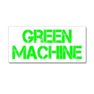Green Machine   Hybrid Car   Window Bumper Sticker