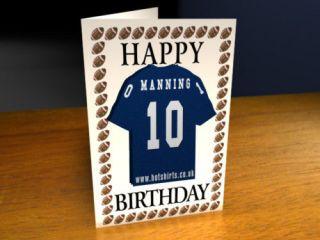 NEW YORK GIANTS   NFL   FRIDGE MAGNET BIRTHDAY CARD