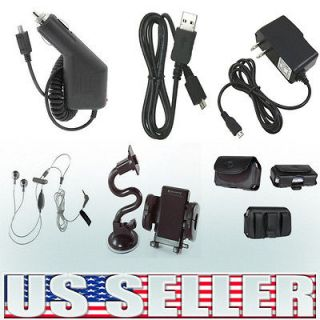 6in1 Car+Home Charger+Case+Holder+Headset+USB Cable For Casio Hitachi