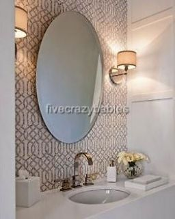 EXTRA LARGE 28 Oval Wall Mirror Vanity Bathroom Beveled Smooth