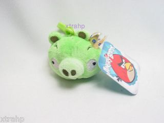 Angry Birds King Pig Backpack Clip On Plush Toy Licensed
