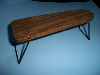 TOY Wonderful Vintage Dolls Wooden Ironing Board with Fold Down Legs