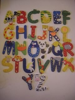 wooden letters animals