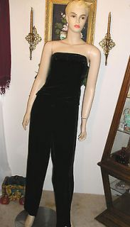 ANN TAYLOR WOMENS GORGEOUS BLACK VELVET BEADED SEXY COCKTAIL PANT