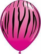 30 BERRY HOT PINK ZEBRA print safari animal latex birthday shower