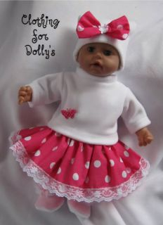 BABY DOLLS CLOTHES OUTFIT FIT ANNABELL BORN 12 19 CARTOON MOTIF CAN