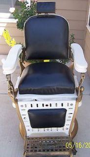 Antique Emil J. Paidar Barbers Chair NS527 1910 1920