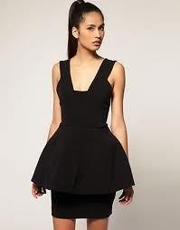 Aqua Couture Black Schiffer Structured Lantern Party Skater Dress 14