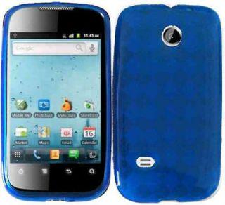 Clear Blue Straight Talk Huawei M865C Phone Cover Soft Gel Case Skin