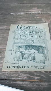 VINTAGE GRATES FRANKLIN STOVES WOOD STOVE MANTLES + BROCHURE SALES