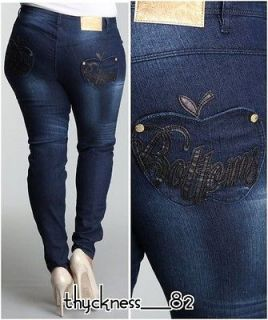 WOMENS APPLE BOTTOMS STRETCH DENIM SKINNY BLUE JEANS 14 16 18 20 22 24
