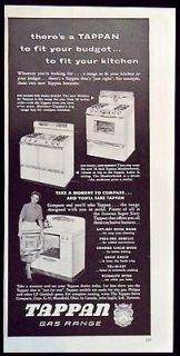 Vintage 1953 Tappan Gas Ranges Stoves Ovens Magazine Ad