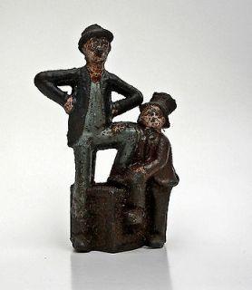 Antique Cast Iron Original Paint Silent Films Mutt & Jeff Toy Bank