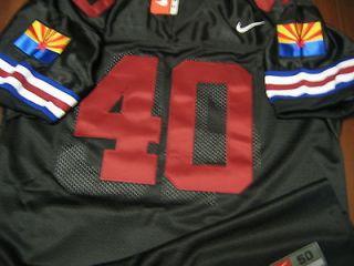 #40 Arizona Cardinals Throwback w/2Patch Black Jersey 56 NWT Arizona