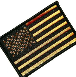 ,BLACK/YELLOW/GOLD,SUBDUED,MILITARY,CLUB,OLD GLORY,ARMY,UNIT,PATCH 4