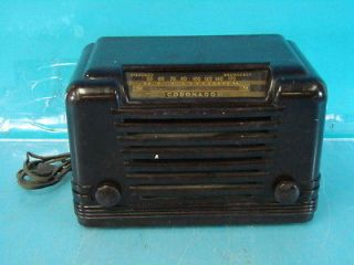 C5D15 Antique Tube Radio Deco Brown Bakelite Cabinet Parts Repair Set
