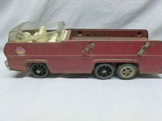Retro Antique Rusty Pressed Steel Tonka Fire Engine Ladder Truck 20