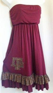 Texas A&M Aggies Leopard Tube Game Day Dress w/ Applique S M L XL NWT