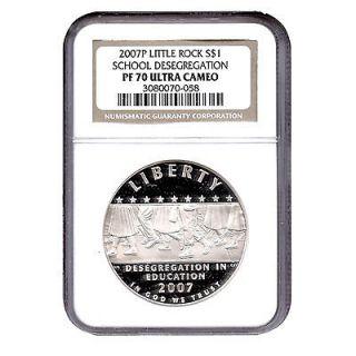 2007 P Little Rock HS Desegregation Commemorative Silver Dollar Coin