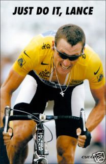 LANCE ARMSTRONG JUST DO IT, LANCE CYCLING POSTER