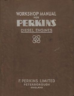 PERKINS P3 DIESEL ENGINE WORKSHOP SERVICE MANUAL 1952