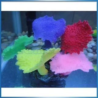 Artificial Fake Coral w/ 5 Colors for Aquarium Fish Tank Decoration