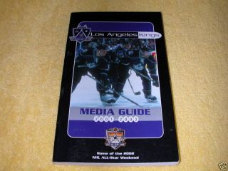 2001 2002 LOS ANGELES Kings Media Guide Book~LA Staples Center~NHL