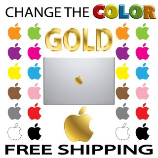 APPLE GOLD COLOR Logo Mac Book Air Pro Laptop VINYL Decal Sticker