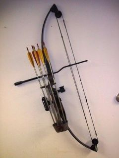 BLACK BEAR II 2 Compound Bow Archery Deer Hunting w Quiver & 5 Arrows