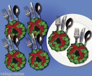 Design Works Felt Applique kit CHRISTMAS WREATH SILVERWARE 6 POCKETS