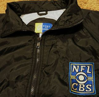 NFL CBS Football Sports News Channel Crew Windbreaker Jacket Large