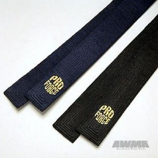 ProForce® EMBROIDERED SATIN BLACK BELT   karate taekwondo tang soo do