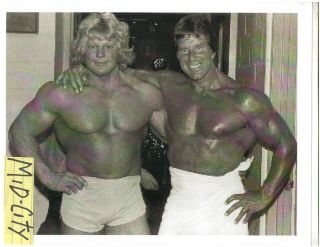 Reg Park /Dave Draper Mr Universe Winners Bodybuilding Photo B&W