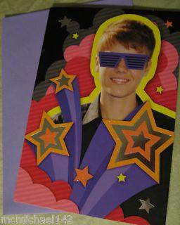 Justin Bieber Hallmark Greeting Card   Birthday Card
