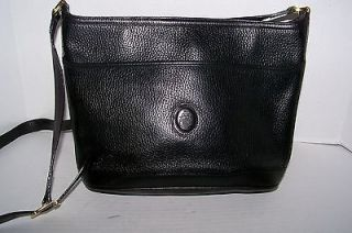 MARK CROSS BLACK PEBBLED LEATHER TOP ZIP CROSSBODY BAG